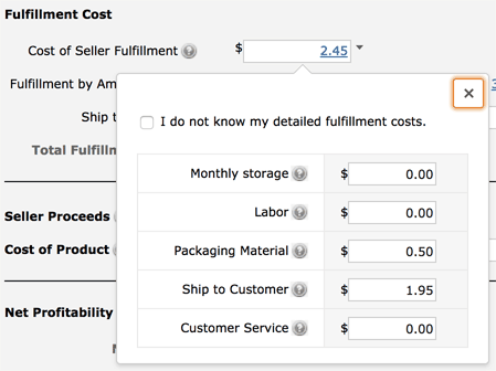 How to Use the Amazon FBA Calculator: Fulfillment Costs